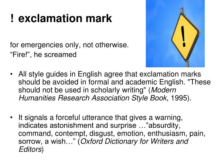 !exclamation mark