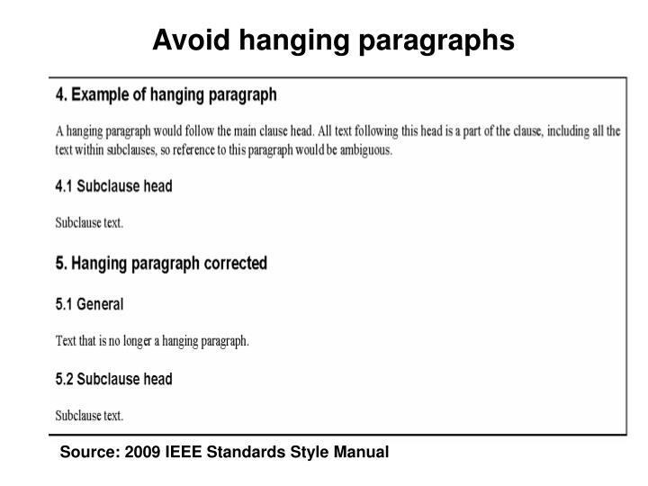 Avoid hanging paragraphs