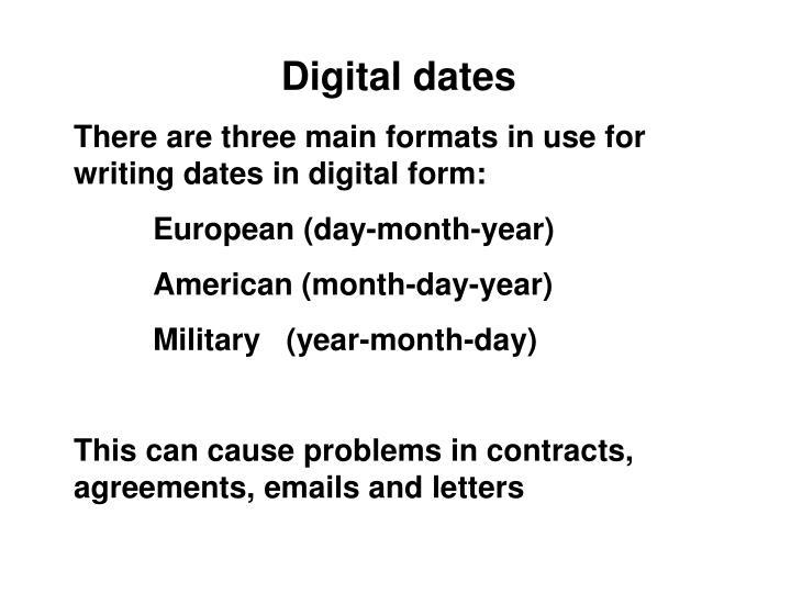 Digital dates