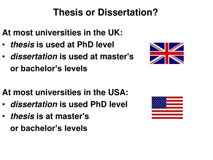 Thesis or Dissertation?