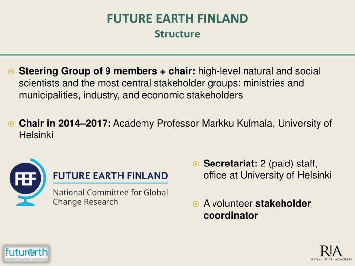 FUTURE EARTH FINLAND