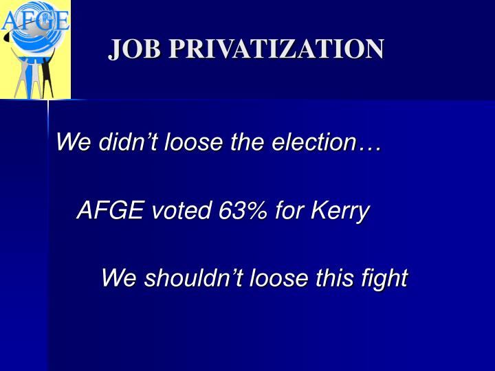 AFGE voted 63% for Kerry
