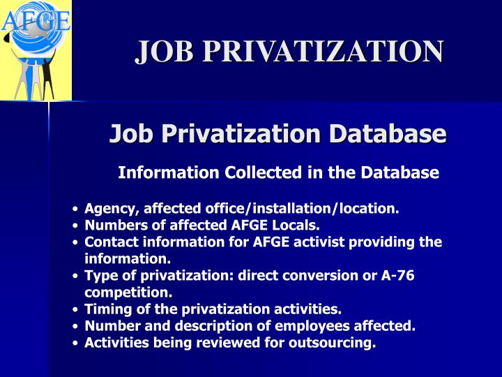 Job Privatization Database