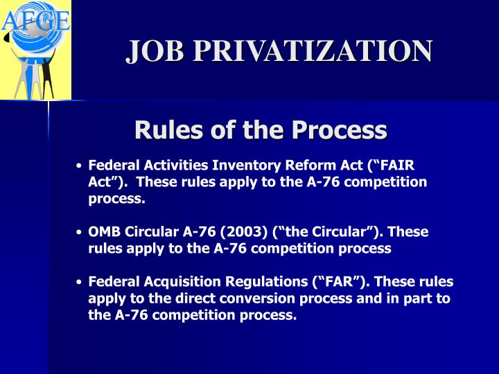 Rules of the Process