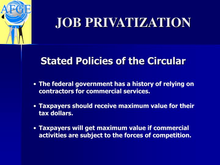 Stated Policies of the Circular
