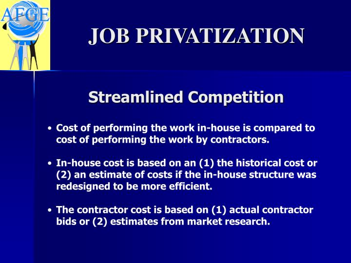 Streamlined Competition