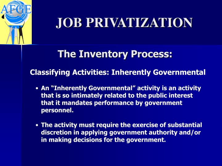 The Inventory Process: