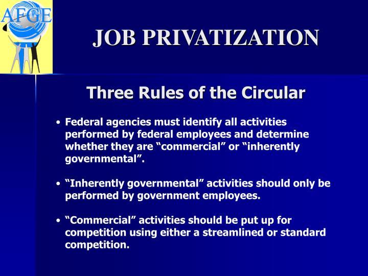 Three Rules of the Circular