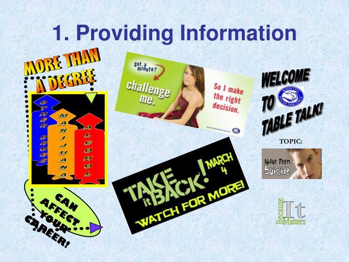 1. Providing Information
