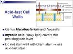 acid fast cell walls