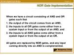 nor gate implementation