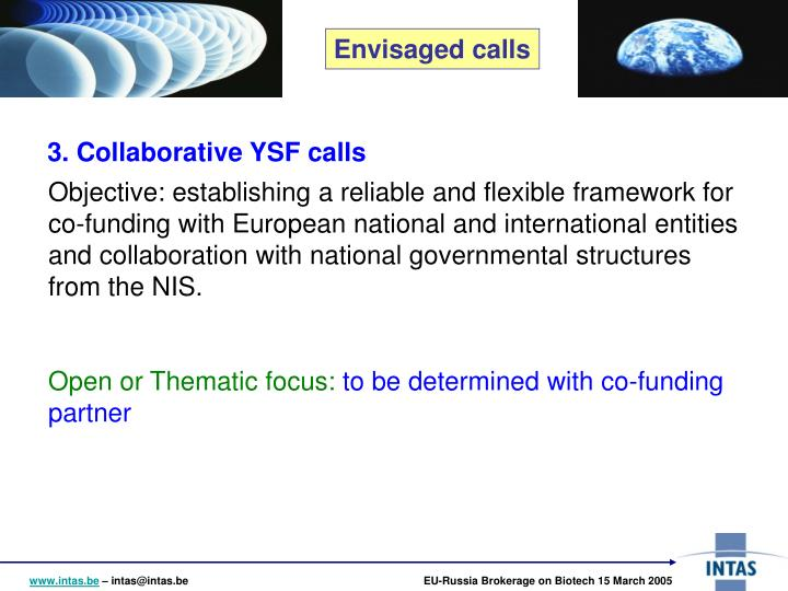 3. Collaborative YSF calls