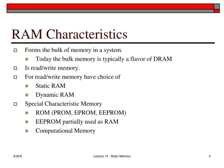 RAM Characteristics