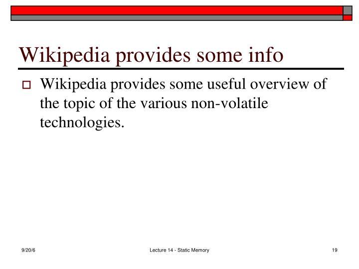 Wikipedia provides some info