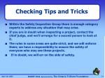 checking tips and tricks1