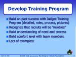 develop training program