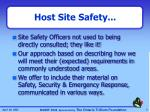 host site safety