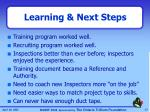 learning next steps