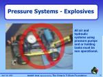 pressure systems explosives1