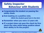 safety inspector behaviour with students1