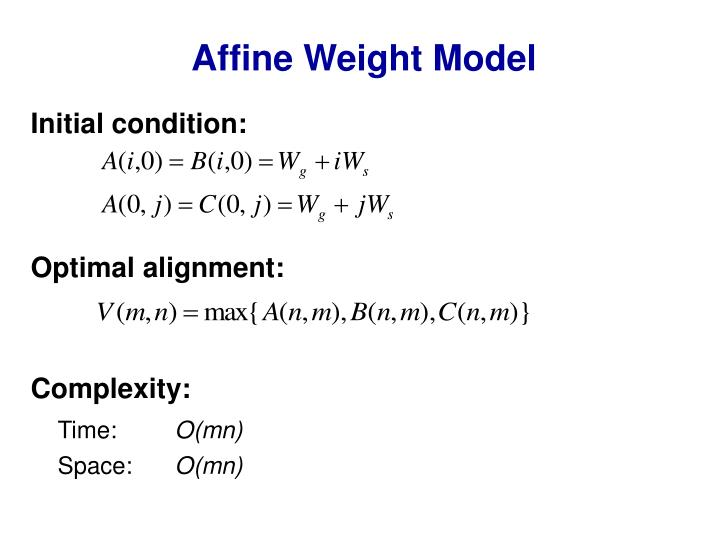 Affine Weight Model