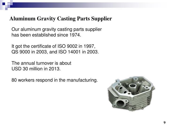 Aluminum Gravity Casting Parts Supplier