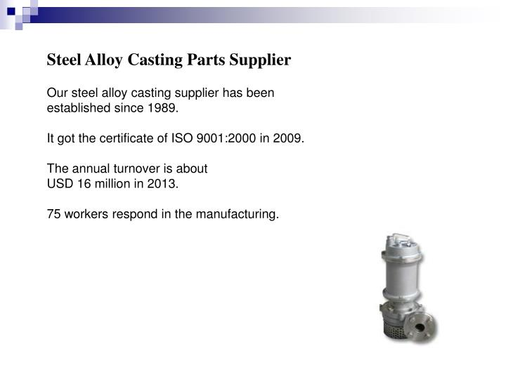 Steel Alloy Casting Parts Supplier