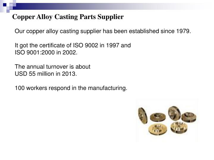 Copper Alloy Casting Parts Supplier