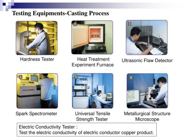 Testing Equipments-Casting Process