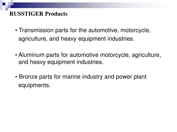 RUSSTIGER Products
