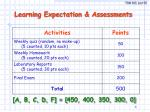 learning expectation assessments
