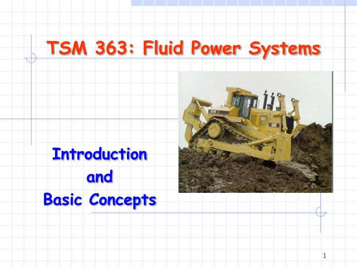 tsm 363 fluid power systems n.