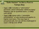 safe harbor is not a port in tampa bay