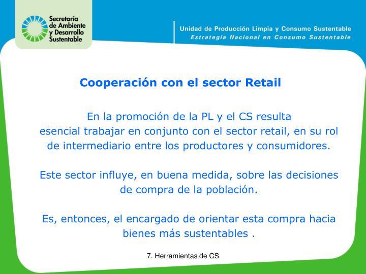 Cooperación con el sector Retail