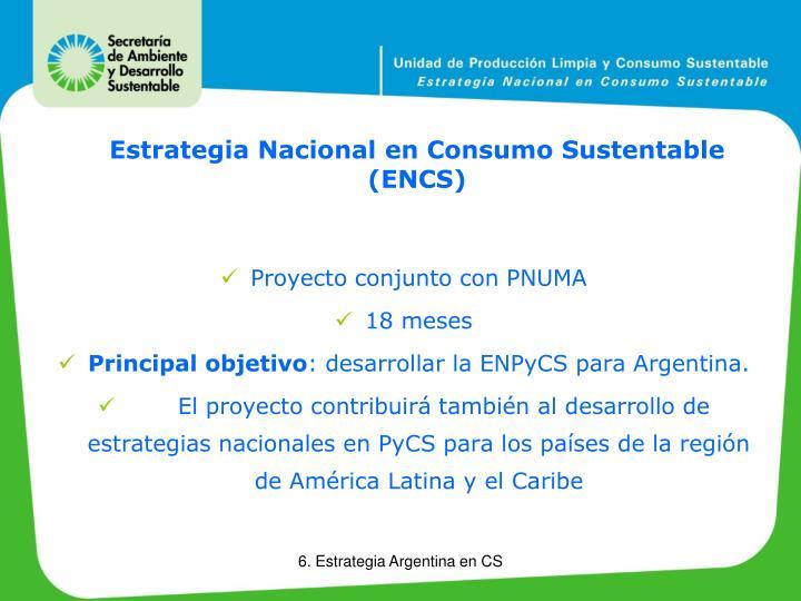 Estrategia Nacional en Consumo Sustentable (ENCS)
