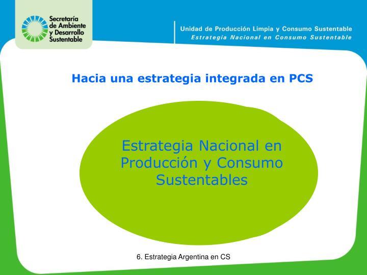 Estrategia Nacional en Producción y Consumo Sustentables