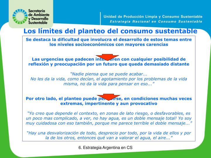 Los límites del planteo del consumo sustentable