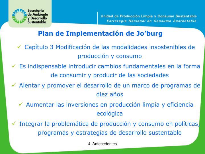 Plan de Implementación de Jo'burg