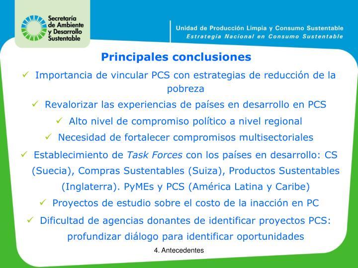 Principales conclusiones