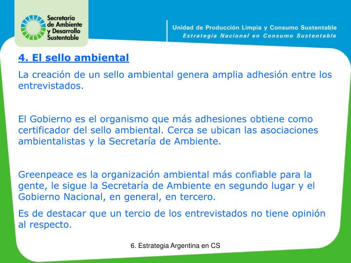 4. El sello ambiental