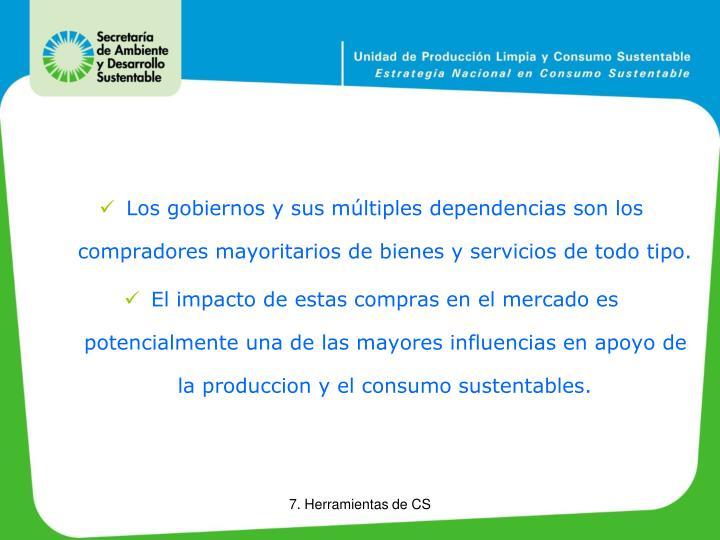 Los gobiernos y sus múltiples dependencias son los compradores mayoritarios de bienes y servicios de todo tipo.