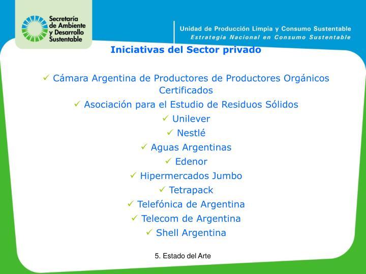 Iniciativas del Sector privado