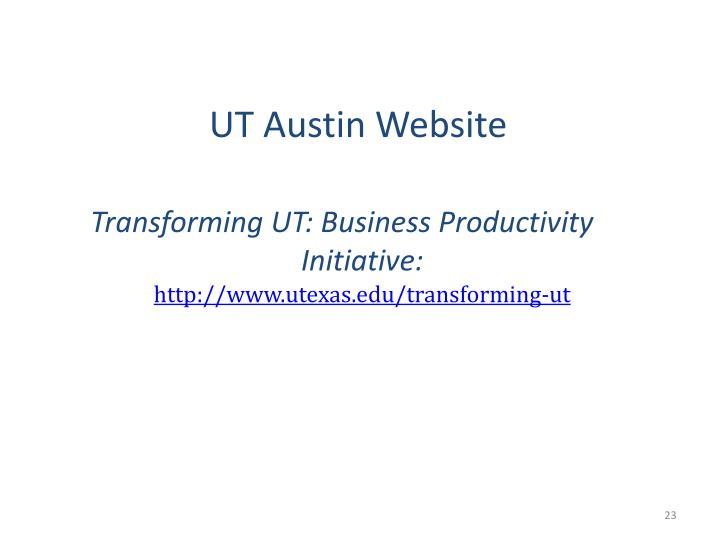 UT Austin Website