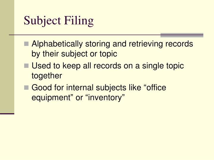Subject filing1