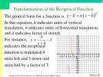 transformations of the reciprocal function