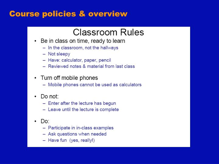 Course policies overview1