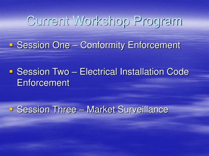 Current Workshop Program