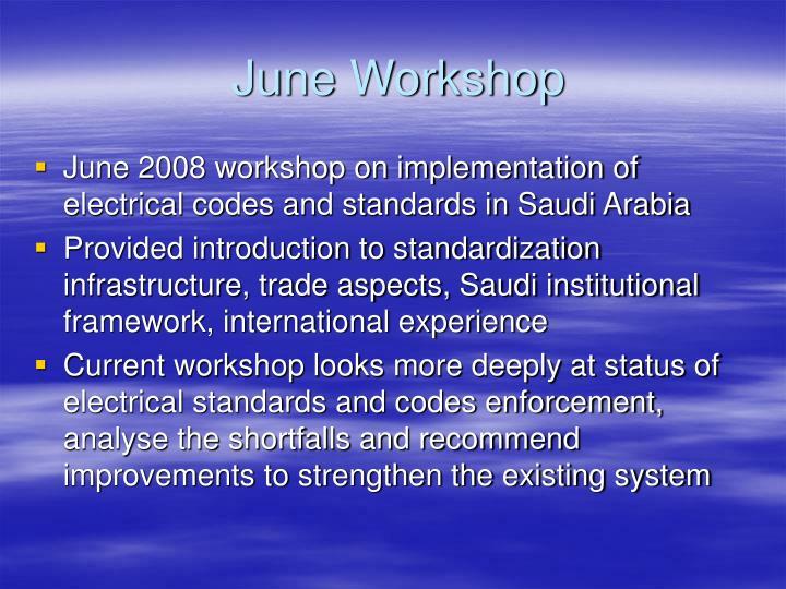 June Workshop