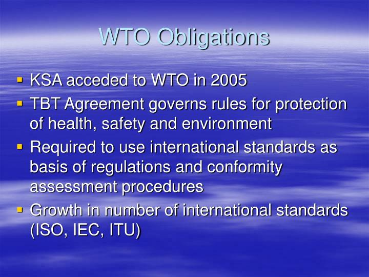 WTO Obligations