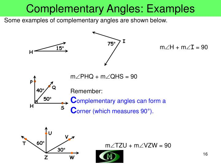 Complementary Angles: Examples